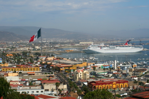 cruise ship in the port of Ensenada