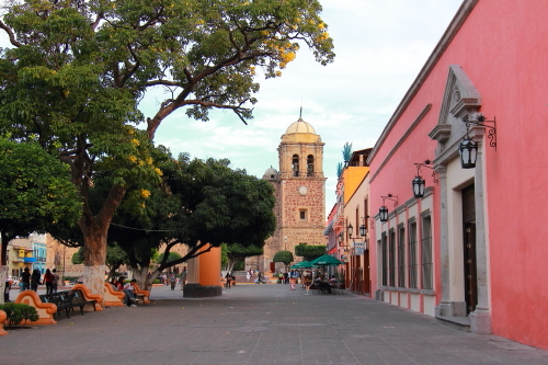 Main cathedral and town square, Tequila, MX