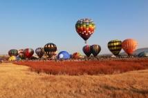 hot air balloon launching