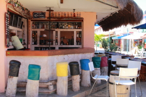 A bar in isla mujeres business district