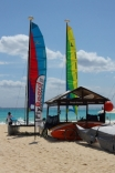 Here's the rental kiosk for a variety of water sports equipment such as hobie cats, boogie boards, surf boards etc.