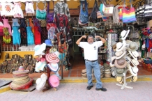 hats, bags, souvenir's and local color