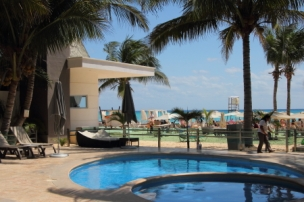 If the ocean is a little to rough or you don't like salt water, the pool is available for a nominal fee.