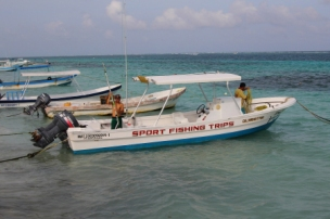 one of many boats available for fishing trips