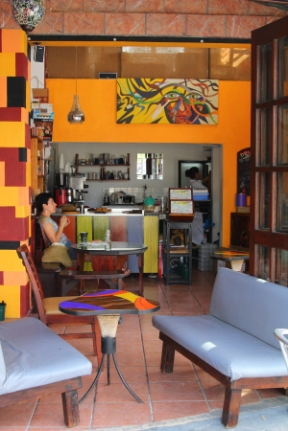 This cafe is just a block from the beach and across from the zocala (town center)