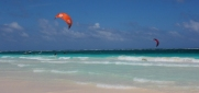 there is a kiteboarding school on the beach here and lot's of wind