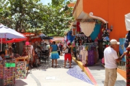 a flea market in Centro San Miguel just off Avienda Rafael Melgar the main beach road through town