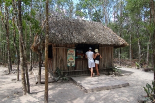 just across from the Nohock Mul Pyramid, sells cold beverages and snacks which you will appreciate after climbing 138 feet in the heat