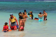 group or individual snorkeling lessons are available at akumal beach