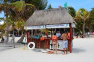 Equipment rentals and ticket sales for snorkeling tours