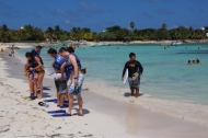 Playa Akumal, a top choice for snorkeling and protected area for turtle nesting .