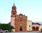 Franciscan Mission, mestizo baroque architecture, circa 1750's, jalpa, mx