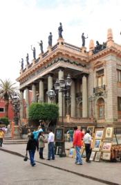 Teatro Juarez, neo-classical architecture, circa 1870- 1903, guanajuato