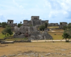 Tulum Ruins, maya architecture, the castle, circa 800-1000 A.D.