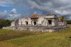 Tulum ruins, maya architecture, circa 800-1000 A.D.