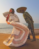 A monument in Puerto Vallarta dedicated to mexican culture
