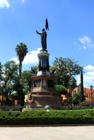 monument to Father Hildago, the spiritual leader of Mexico's revolutionary war
