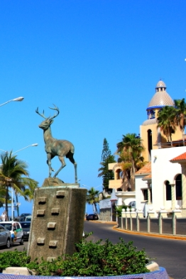 Monument to Mazatlan which translated means land of deer