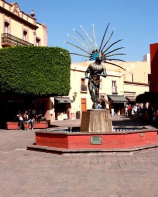 a monument to Danzante and the Otomi indian culture in that existed in Queretaro before the Spanish conquest
