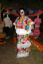 traditional maya dress and mask