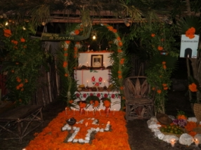 traditional yucatan altar and offerings