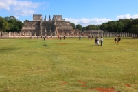 The Temple de los Guerreros. This building owes its name to the rows of pillars displaying relief carvings of warriors