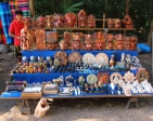 Vendors with souvenirs are conveniently located near all buildings.
