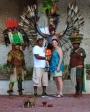 A photo opp at the entrance of Chichen Itza