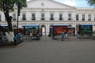 Neoclassical architecture located in the main square of San Cristobal
