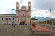 One of 16 temples in San Cristobal next to the ambar museum