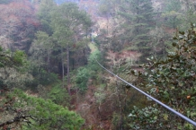 If your tired of hiking at the end day you can always take the take the zip line to the parking lot and be there in 30 seconds