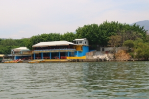 One of several waterfront restaurants on the Grijalua river