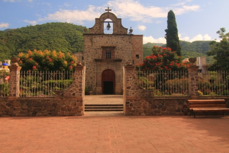 An historic  Chapel across form the Ajijic plaza