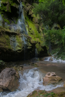 Los Pozas Azules is a natural spa on the outskirts of town. Several pools such as this are created by a cascading stream of water which is a crystalline blue color during the dry season but becomes muddy during the rainy season.