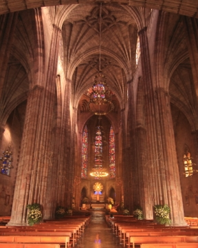 Interior architecture of the Templo Expiatorio
