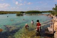 Akumel, Maya Riviera, the meso american reef system is a short swim for this lagoon.