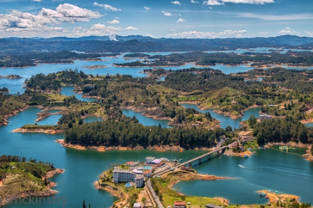 Guatape Lake and Islands