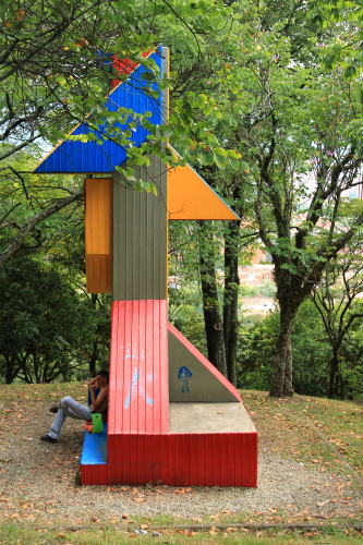 art nature trail at cerro nutibarra