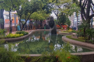 a childrens pool in the historical civic plaza area