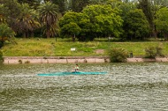 Sculling on the Lake in Parque San Martin