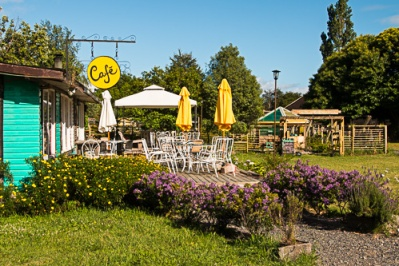 a cafe in the village of Pucon
