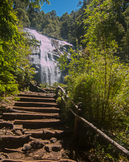 one of several waterfalls in Huerquehue National Park