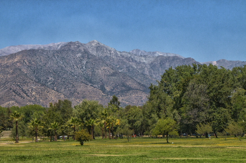 a look at the Andes mountains from Park Hurtado