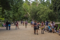 Florestal Park is a favorite gathering place for local muscians who provide entertainment and pass the hat for tips.