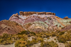 This is the hill of seven colores about 4 miles from Uspallata, The colors are attributable to different types of rock that came together over a long period of time.