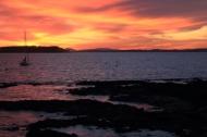 sunsets on Playa Mansa are equally inspiring