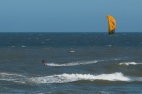 kiteboarding off playa brava