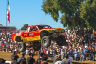 Trophy Truck off to a flying start in the Baja 1000 off road race