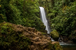 The Templo waterfall is 85 feet