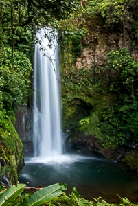 The Magia Blanca waterfall is 110 ft